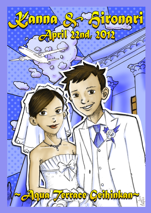 Wedding Poster for Hiro & Kanna
